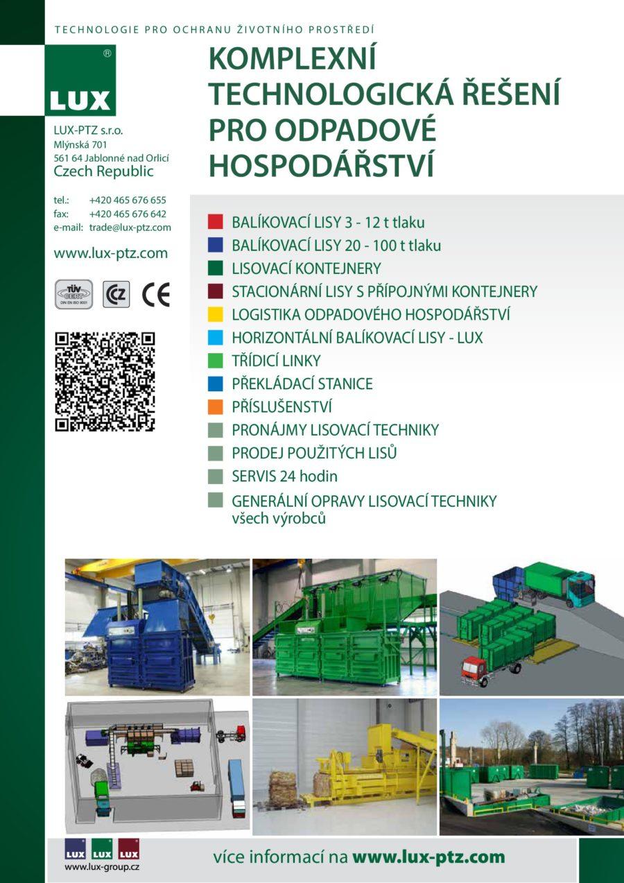 Nabízíme komplexní technologická řešení pro odpadové hospodářství - balíkovací lisy, lisovací kontejnery a třídící linky.