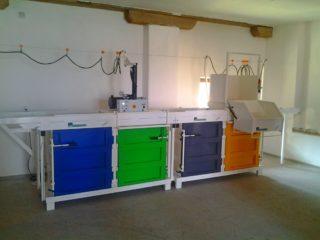 Čtyřkomorové provedení na různé druhy lisovaného materiálu - přímé třídění