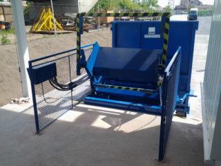 Vyklápěcí zařízení na SL 900, SL 1100 z rampy modré