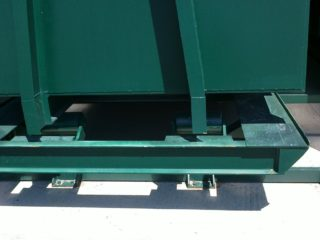 překládací stanice detail kontejnerů