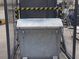 Vyklápěcí zařízení pojízdné VZP 222 a VZP 223 s kontejnerem