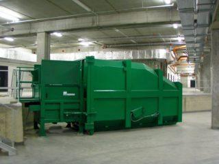 Stacionární lis SL900 + přípojný kontejner PK20