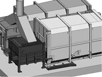 stacionární lisy s přípojnými kontejnery - aplikace