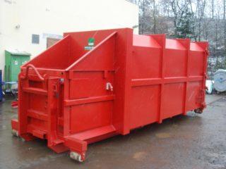 červený lisovací kontejner LK-S