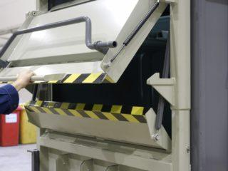 balíkovací lis L30-1 detail komory