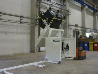 Vyklápěcí zařízení posuvné VZP 305 s kontejnerem