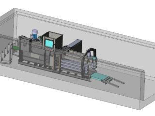 Horizontální balíkovací lis - ukázka umístění