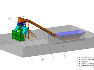 dvoukomorový balíkovací lis s možností o rozšíření o další komory
