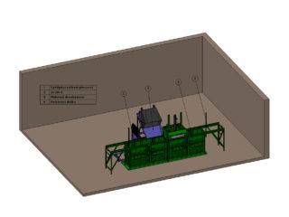 čtyřkomorový balíkovací lis plněný vyklápěcím zařízením