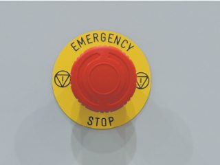 balíkovací lis L8-2 pohotovostní tlačítko