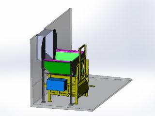 stacionární lis s přípojným kontejnerem, násypka dle přání zákazníka