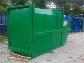 zelený lisovací kontejner LK-KR