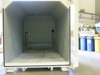 lisovací kontejner LK-K zevnitř