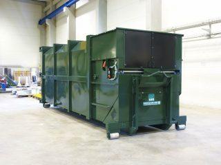 tmavozelený lisovací kontejner LK-K