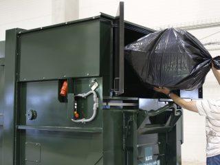 lisovací kontejner LK-K v provozu