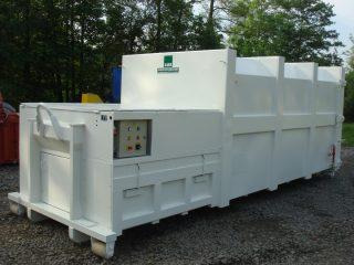 bílý lisovací kontejner LK-V