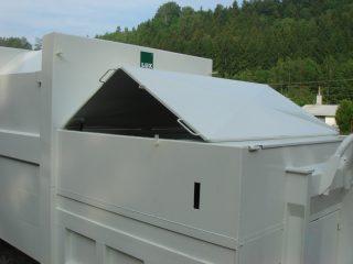 lisovací kontejner LK-V v provozu