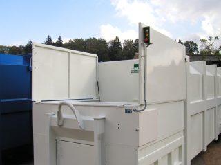 lisovací kontejner LK-V otevřený