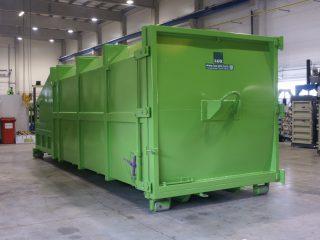zelený lisovací kontejner LK-V