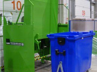 Vyklápěcí zařízení VZ 303 zelené