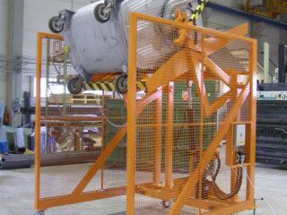 Vyklápěcí zařízení pojízdné VZP 222 a VZP 223 s popelnicí