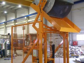 Vyklápěcí zařízení pojízdné VZP 222 a VZP 223 v provozu
