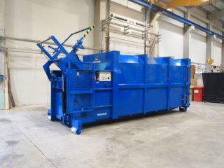 modrý lisovací kontejner LK-K