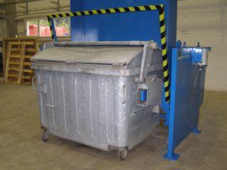 Vyklápěcí zařízení VZ 279 s kontejnerem