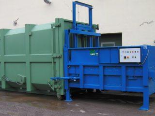 stacionární lis SL 2300-HM s kontejnerem
