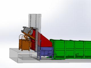 Vyklápěcí zařízení na 1100l nádoby