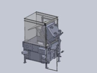 integrované vyklápění spražené s násypkou