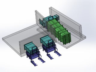Multifunkční umístění více lisovacích zařízení
