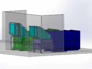 Stacionární lisy s přípojnými kontejnery