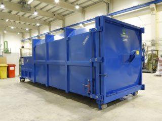 modrý lisovací kontejner LK-V